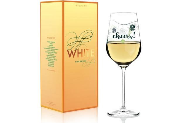 Ritzenhoff Weißweinglas von Lenka Kühnertová Weinreben, Blätter, Schrift 360 ml