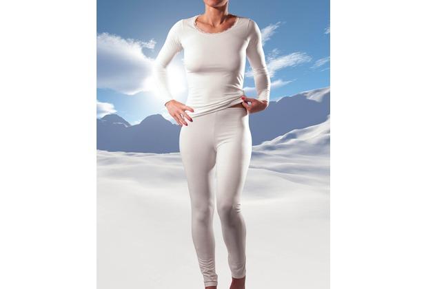 RJ Bodywear RJ ladies Thermo-Legging,wollweiß L