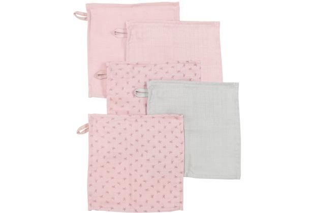 Roba 5er Set Waschlappen Lil Planet rosa