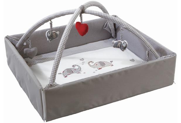 """Roba Baby Nest mit Spielbogen \""""Jumbotwins grau\"""""""