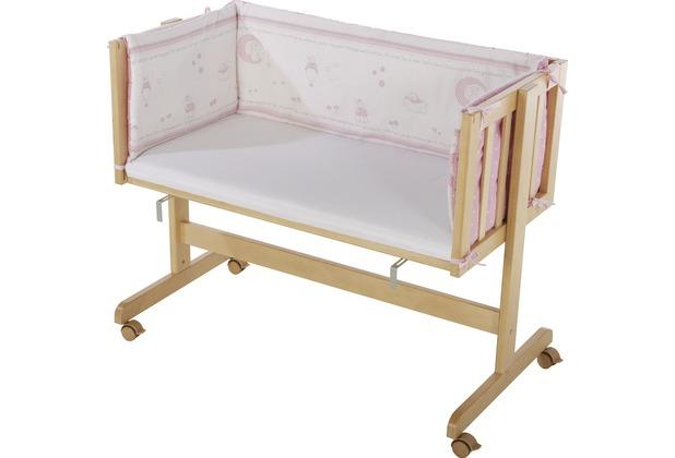 Roba Beistellbett \'Glücksengel rosa\', Holz natur