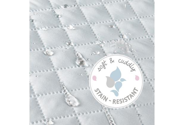 Roba Bundle \'roba Style\' inkl. Laufgitter 4eckig weiß und blauer Mikrofaser-Bettschlange, geprüft