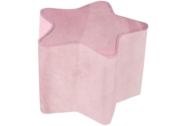 Roba Kinderhocker in Sternform rosa