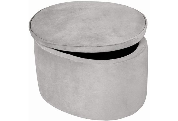 Roba Kinderhocker oval mit Aufbewahrungsfunktion grau