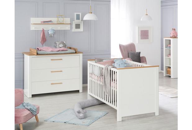 Roba Kinderzimmerset Ava, inkl. Kombi-Kinderbett 70 x 140 cm & Wickelkommode schranktief