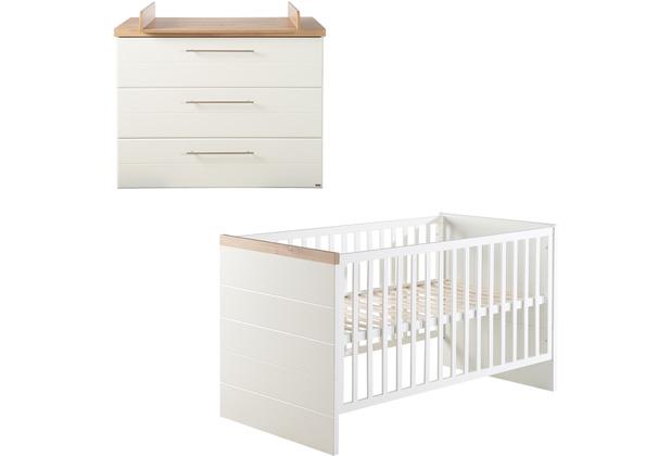 Roba Kinderzimmerset Nele, inkl. Kombi-Kinderbett 70 x 140 & Wickelkommode breit