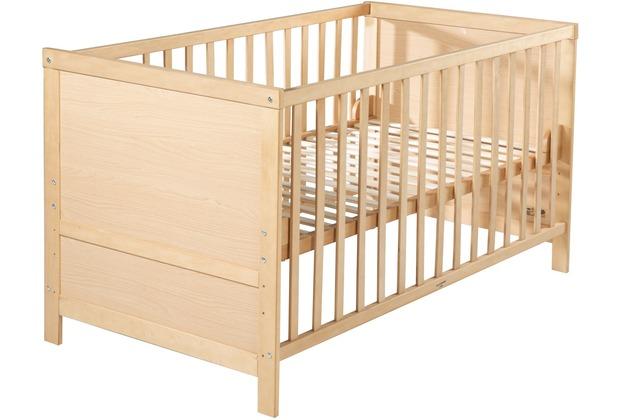 Roba Kombi-Kinderbett in Rahmenoptik, 70 x 140 cm, natur