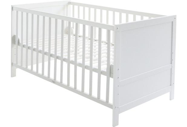 Roba Kombi-Kinderbett in Rahmenoptik, 70 x 140 cm, weiß lackiert