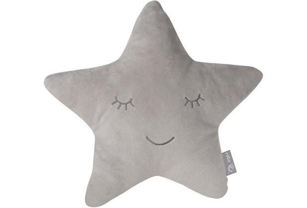 Roba Kuschel- und Dekokissen roba Style Stern grau