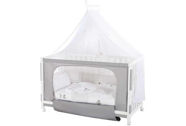 """Roba Room Bed \""""Fox & Bunny\"""", weiß lackiert"""
