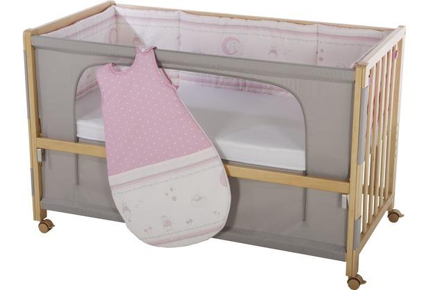 "Roba Room Bed \""Glücksengel rosa\"", Holz natur"