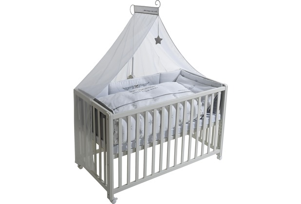 """Roba Room Bed \""""Rock Star Baby 2\"""", weiß lackiert"""