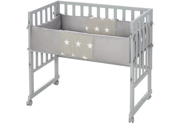 Roba Stuben- & Beistellbett 3in1 mit Barriere Little Stars
