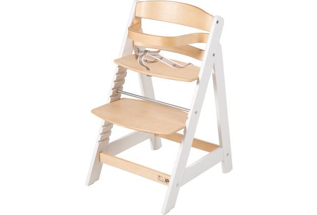 Roba Treppenhochstuhl Sit Up III, mitwachsender Hochstuhl vom Babystuhl bis Jugendstuhl, natur/weiß