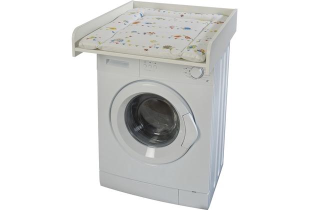 """Roba Wickelplatte weiß inkl. Wickelauflage \""""Waldhochzeit\"""", passend auf Waschmaschinen"""
