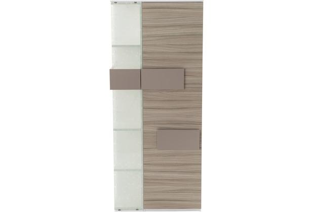 Röhr Vitrine Driftwood 75x180x37 cm Glas links Applikation Cubanit