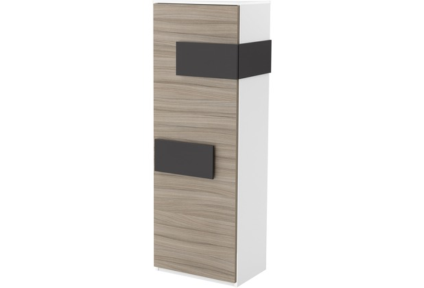 Röhr Schrank Driftwood Tür links Applikation Anthrazit