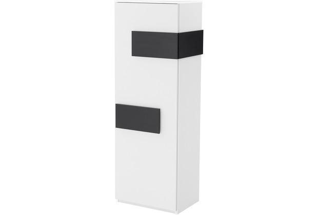 Röhr Schrank Weiß Tür links Applikation Anthrazit