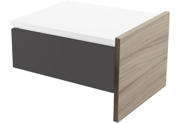 Röhr Anbau-Nachttisch Driftwood mit Schubkasten Applikation Anthrazit