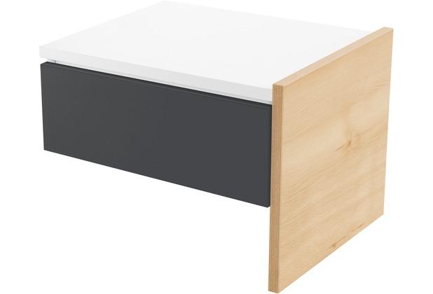 Röhr Anbau-Nachttisch Buche mit Schubkasten Applikation Anthrazit