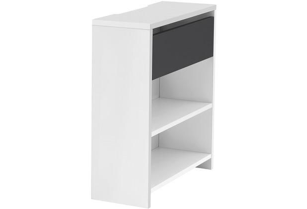Röhr Funktionsanbau für Schreibtisch Weiß 25x72x67 cm Applikation Anthrazit