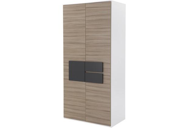 Röhr Kleiderschrank 2trg Driftwood Applikation Anthrazit