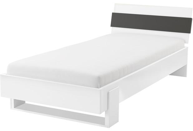 Röhr Jugendbett weiß 100x200cm anthrazit