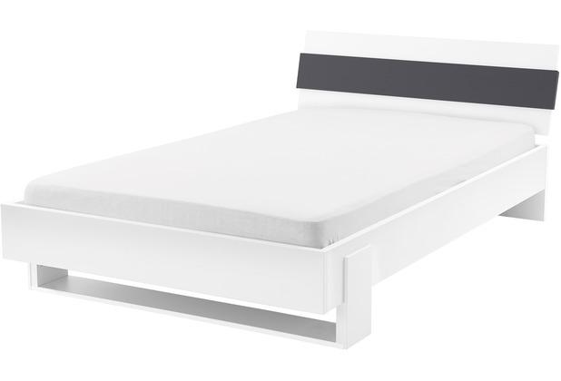 Röhr Jugendbett weiß 120x200cm anthrazit