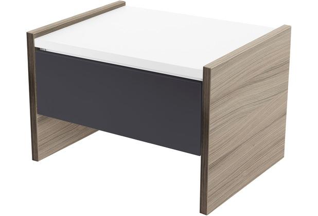 Röhr Nachttisch Driftwood mit Schubkasten Applikation Anthrazit