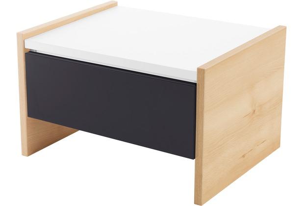 Röhr Nachttisch Buche mit Schubkasten Applikation Anthrazit