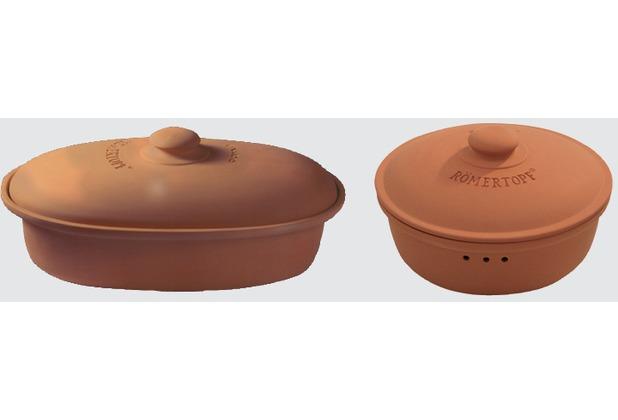 Römertopf Brottopf oval terracotta Maße: 44 x 26 x 19,5 cm