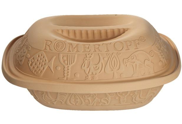 "Römertopf Römertopf \""Thermo\"" - 2,5 kg 34,5 x 22,5 x 17 cm, postsicher"