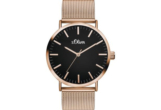s.Oliver Damen-Armbanduhr SO-3327-MQ für Frauen Farbe: roségold