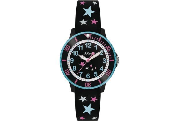 s.Oliver Armbanduhr SO-3406-PQ mit Sternchen für Mädchen