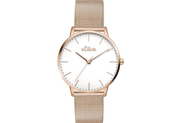 s.Oliver Damen-Armbanduhr SO-3446-MQ für Frauen Farbe: Roségold