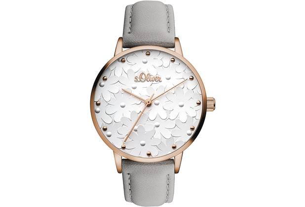 s.Oliver Damen-Armbanduhr SO-3467-LQ Grau für Frauen