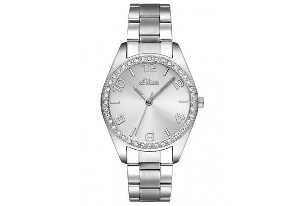 s.Oliver Damen-Armbanduhr SO-2276-MQ silber Damenuhr Frauen-Uhr