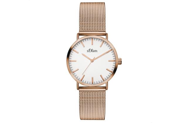 s.Oliver Damen-Armbanduhr SO-3272-MQ für Frauen Farbe: roségold