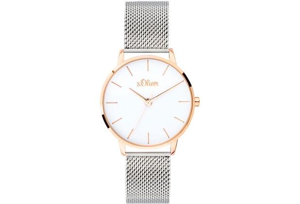s.Oliver Damenuhr SO-3701-MQ Damen Armbanduhr, Farbe: bicolor
