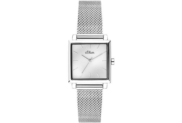s.Oliver Damenuhr SO-3710-MQ Damen Armbanduhr, Farbe: silber