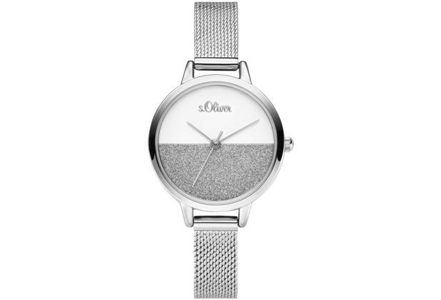 s.Oliver Damenuhr SO-3745-MQ Damen Armbanduhr Farbe: silber