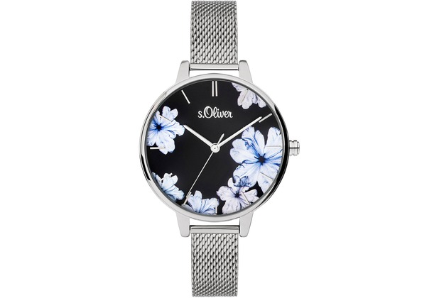 s.Oliver Damenuhr SO-3777-MQ Damen Armbanduhr Farbe: silber