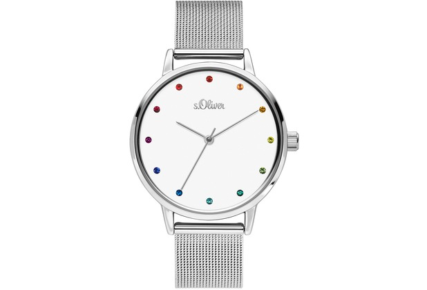 s.Oliver Damenuhr SO-3780-MQ Damen Armbanduhr Farbe: silber