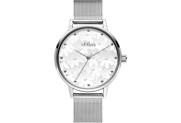s.Oliver Damenuhr SO-3788-MQ Damen Armbanduhr Farbe: silber
