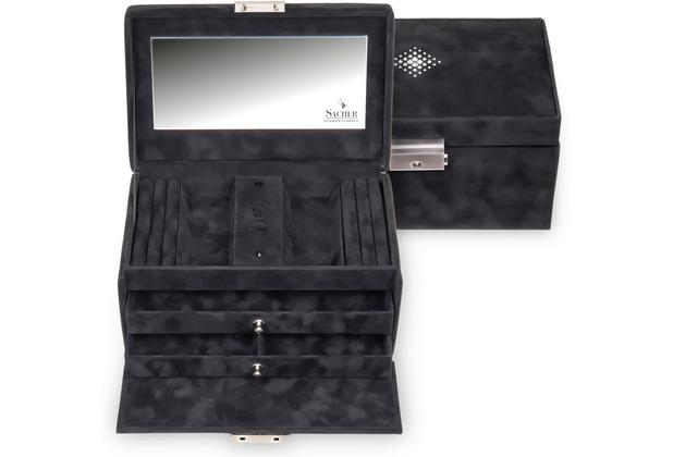 Sacher Schmuckkoffer Eva / crystalo mit Swarovski® Kristallen schwarz