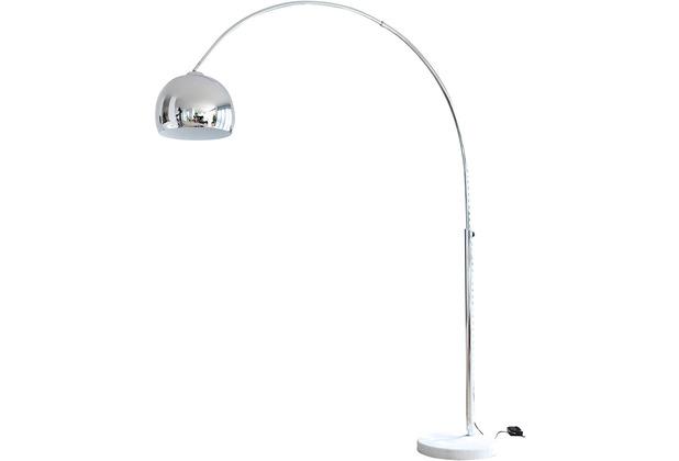 SalesFever Bogenlampe 208 cm chrom, echter Marmorfuß