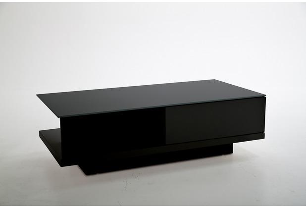 SalesFever Couchtisch 120x60x36 cm weiß hochglanz lackiert, 8 mm Glasplatte (Sicherheitsglas)
