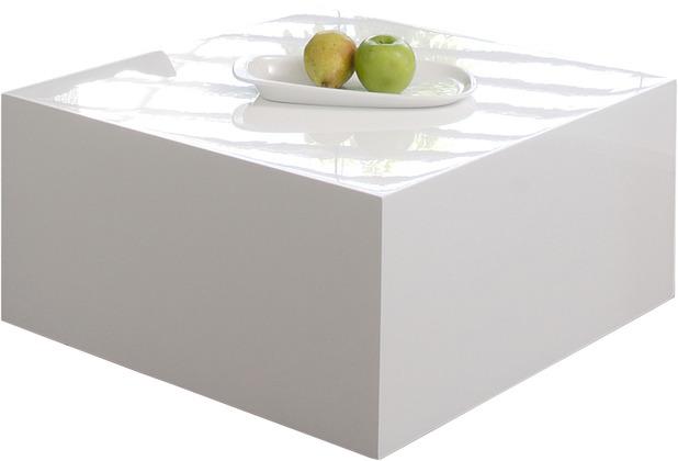 SalesFever Couchtisch 60x60x30cm weiß hochglanz lackiert