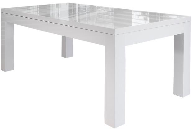 SalesFever Esstisch 180/260x90 cm weiß hochglanz lackiert