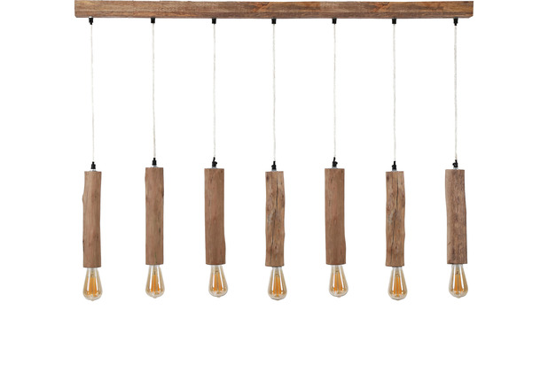 SalesFever Hängeleuchte 125 x 150 cm Eukalyptus Holz